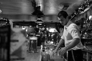 male-dominated jobs: bartender