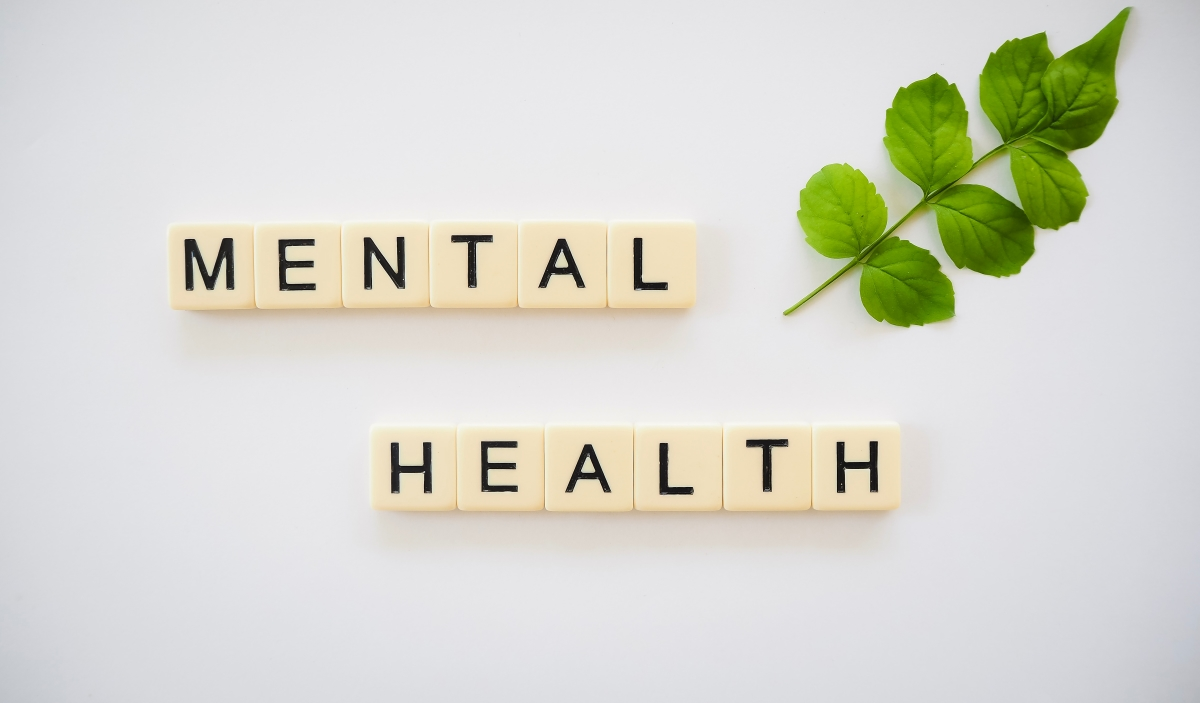 "Scrabble letters depicting the words ""mental health"""