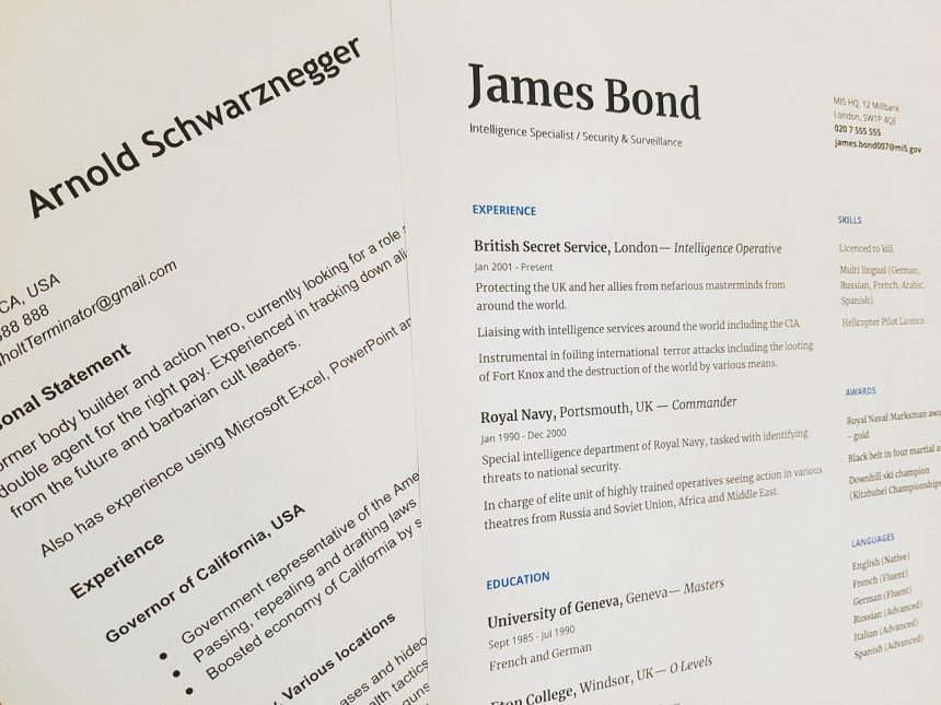 How a chronological resume format looks like