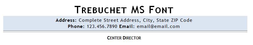 Trebuchet MS resume font