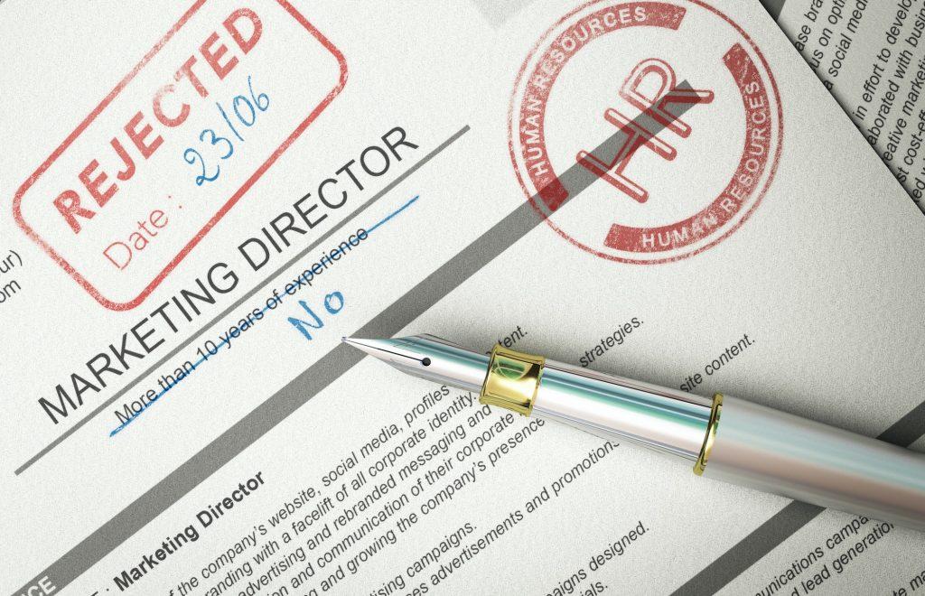 rejected resume due to poor resume headline